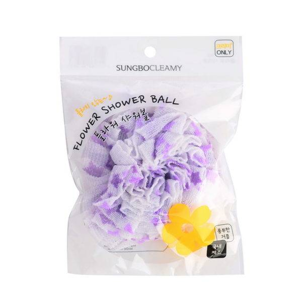 CLEAN&BEAUTY Мочалка для душа Flower shower ball 1шт