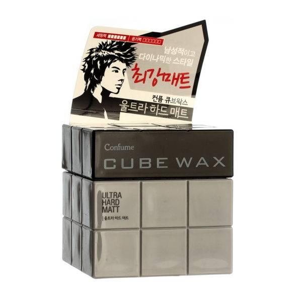 Confume Воск для укладки волос Confume Cube Wax Ultra Hard Matt 80гр