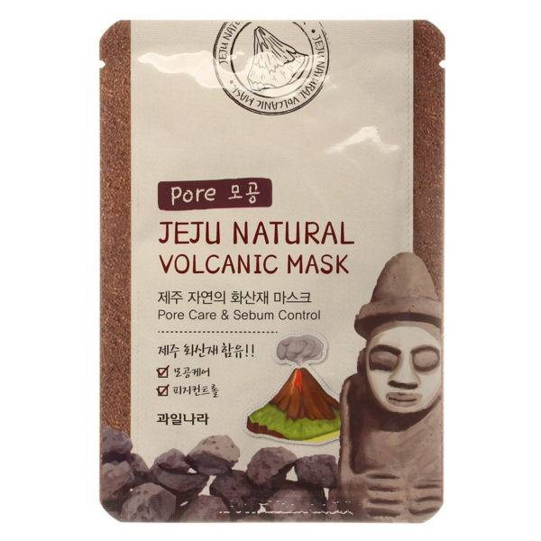 Jeju Маска для лица очищающая поры Jeju Natural Volcanic Mask Pore Care & Sebum Control 20мл