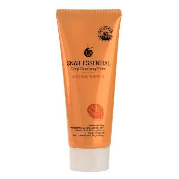 Kwailnara Пенка для умывания Snail Essential Deep Cleansing Foam