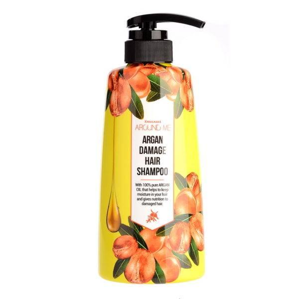 Argan Шампунь для поврежденных волос Around me Argan Hair Shampoo 500мл