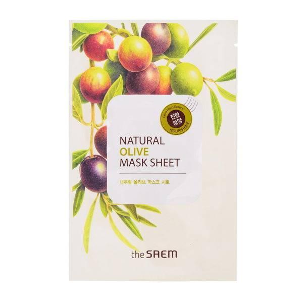 Маска тканевая с экстрактом оливы Natural Olive Mask Sheet 21мл