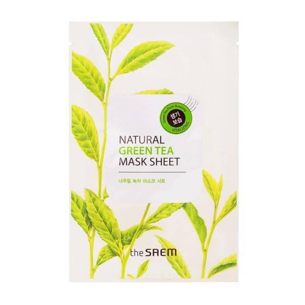 Маска тканевая с экстрактом зеленого чая Natural Green Tea Mask Sheet 21мл