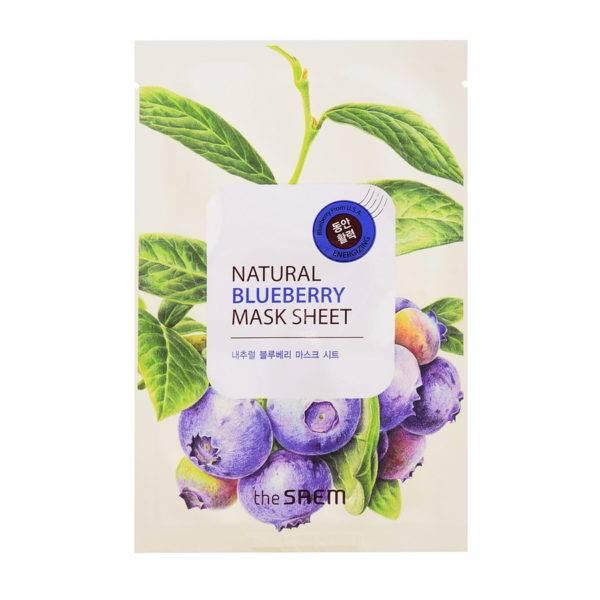 Маска тканевая с экстрактом черники Natural Blueberry Mask Sheet 21мл