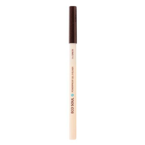 EYE Карандаш для глаз водост. гелевый 02 Eco Soul Waterproof Gel eyeliner 02 Hot tanning brown 0