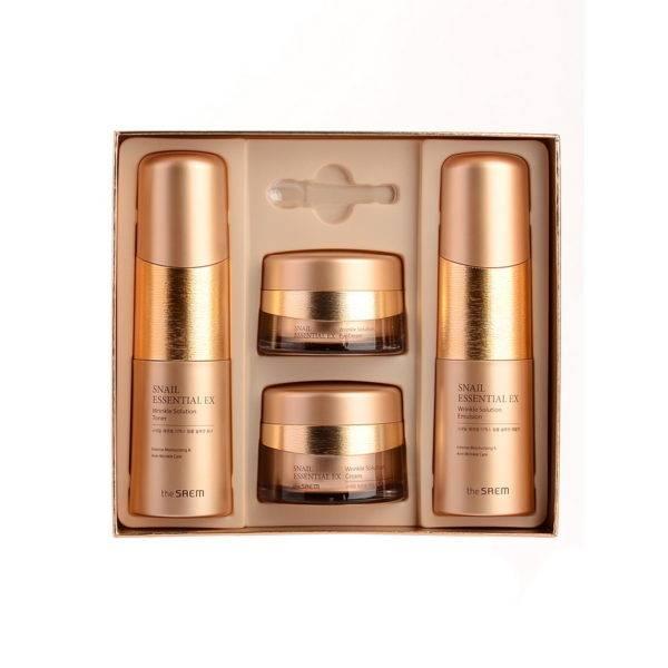 Snail Essential Набор уходовый антивозрастной Snail Essential EX Wrinkle Solution Skin Care 3 Set 150мл*150мл*60мл*30мл