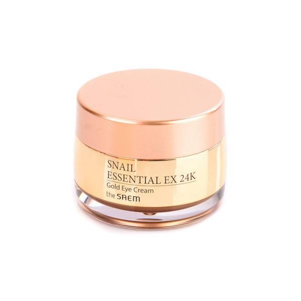 Snail Крем для кожи вокруг глаз с муцином улитки и вибромассажер Snail Essential EX 24K Gold Eye Cream Set 30мл