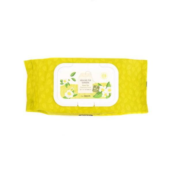 Garden Салфетки очищающие с экстрактом зеленого чая Healing Tea Garden Green Tea Cleansing Tissue 240гр