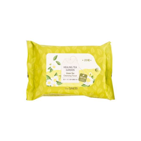 Garden Салфетки очищающие с экстрактом зеленого чая Healing Tea Garden Green Tea Cleansing Tissue 20шт