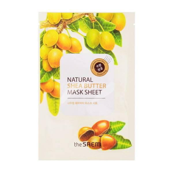 Маска тканевая с экстрактом масла ши Natural Shea Butter Mask Sheet 21мл