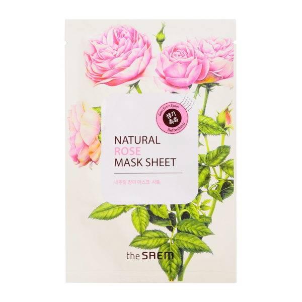 Маска тканевая с экстрактом розы Natural Rose Mask Sheet 21мл