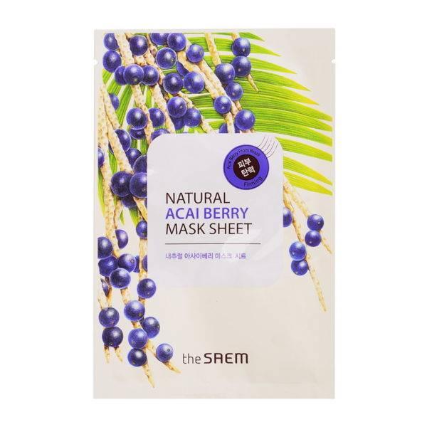 Маска тканевая с экстрактом ягод асаи Natural Acai Berry Mask Sheet 21мл
