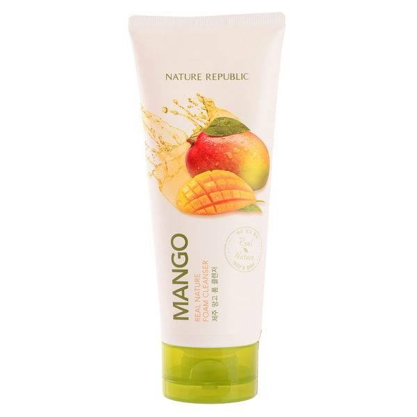 NATURE Пенка для умывания с экстрактом манго REAL NATURE MANGO FOAM CLEANSER(R) 150мл