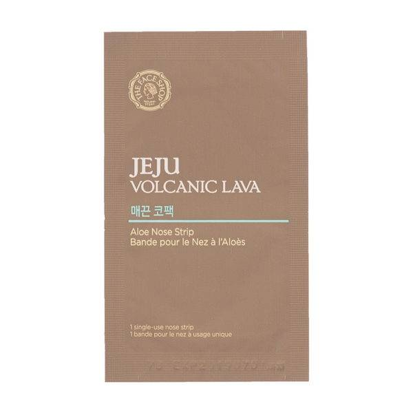 Jeju Патчи от черных точек с экстр. алоэ Jeju Volcanic Lava Aloe Nose Strip