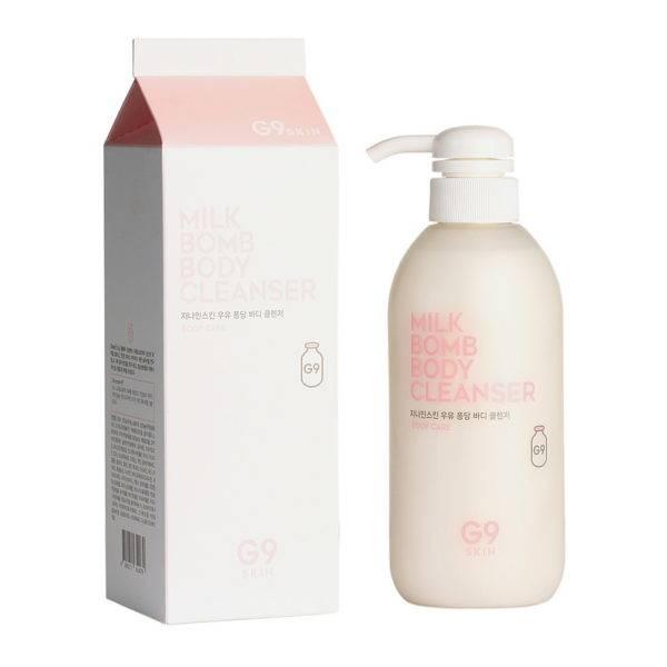 Молочко очищающее для тела G9SKIN Milk Bomb Body Cleanser 500мл