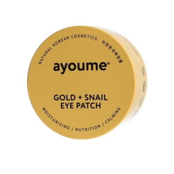 Патчи для глаз омолаживающие с золотом и улиточным муцином  AYOUME GOLD+SNAIL EYE PATCH 1