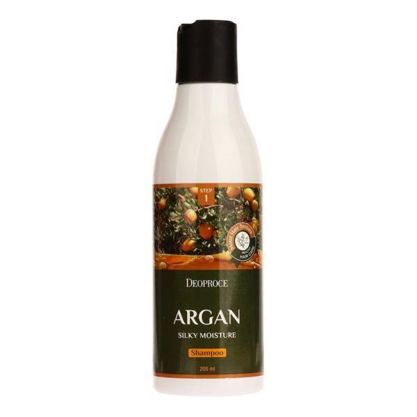 HAIR ARGAN Шампунь для волос с аргановым маслом DEOPROCE ARGAN SILKY MOISTURE SHAMPOO 200ml 200мл