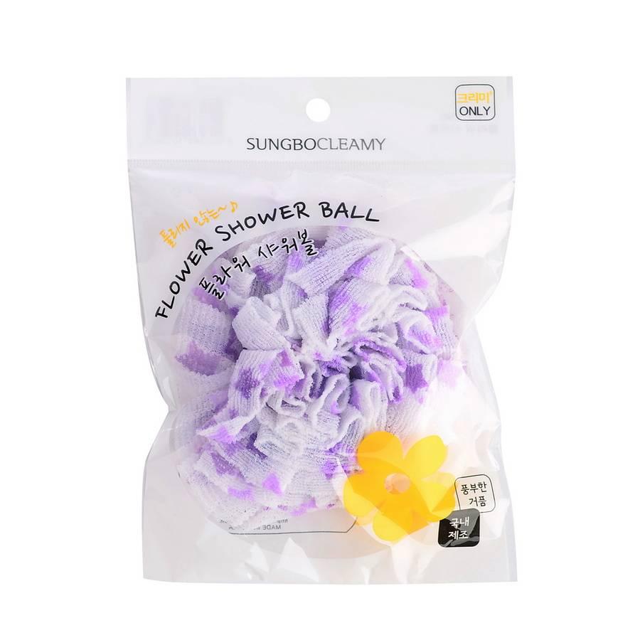 SB CLEAN&BEAUTY Мочалка для душа Flower shower ball 1шт