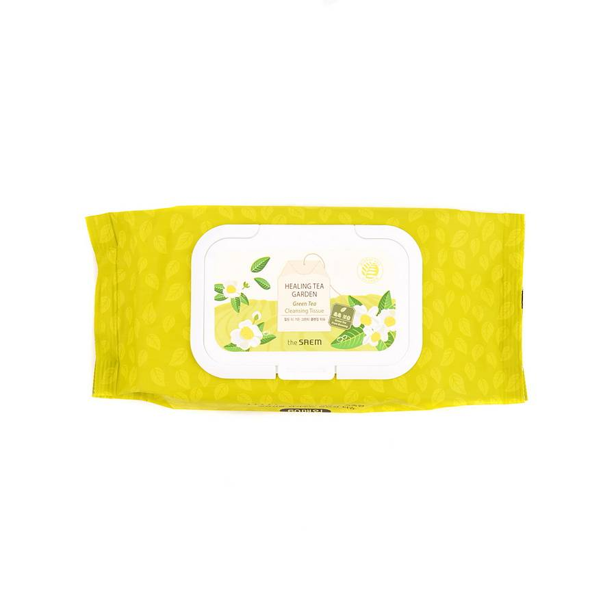СМ Garden Салфетки косметические влажные с экстрактом зеленого чая Healing Tea Garden Green Tea Cleansing Tissue 240гр