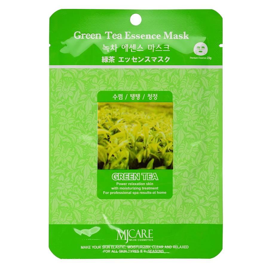 МЖ Essence Маска тканевая для лица Зеленый чай Green Tea Essence Mask 23гр