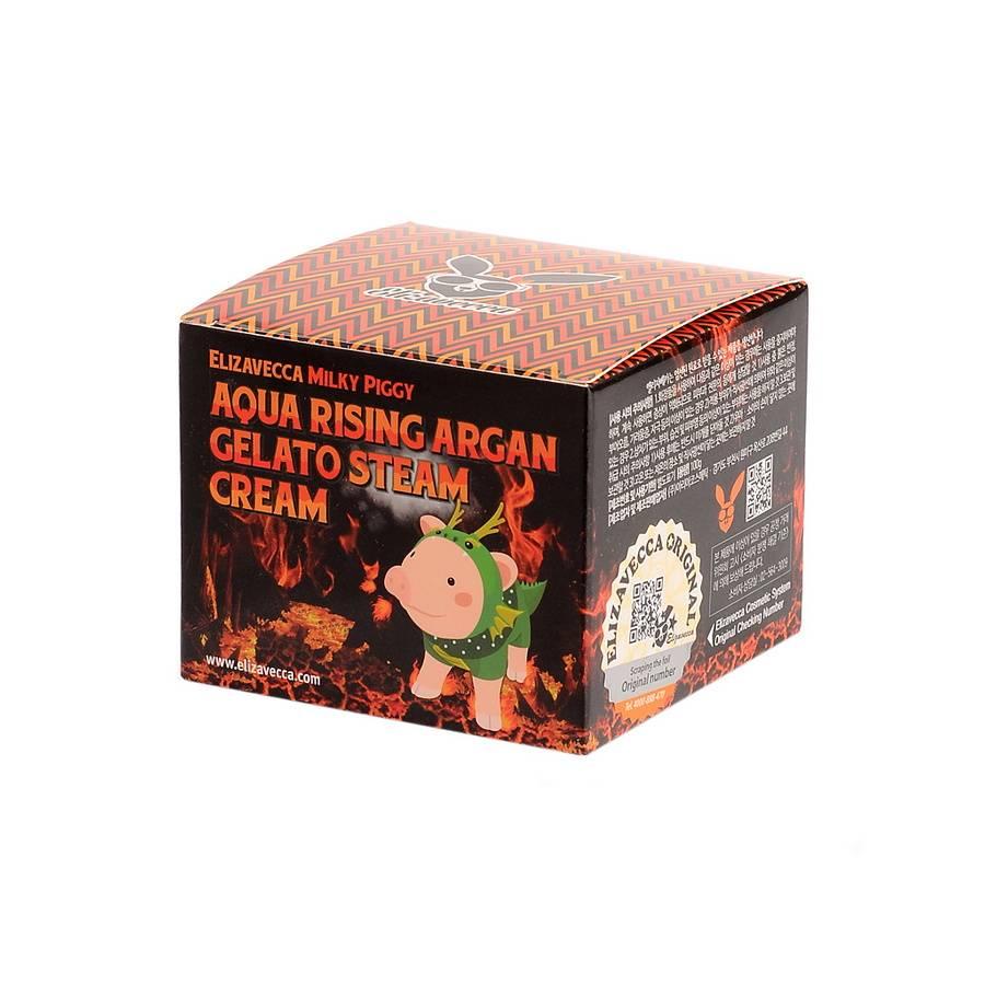 ЕЛЗ Milky Piggy Крем паровой увлажняющий Aqua Rising Argan Gelato Steam Cream 100гр
